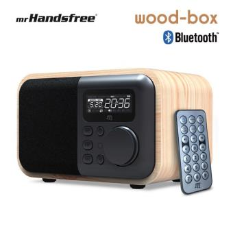 enceinte bluetooth fonction radio reveil design bois naturel woodbox enceinte pc achat. Black Bedroom Furniture Sets. Home Design Ideas