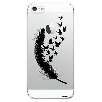 coque iphone 5 plume