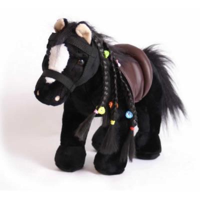 Peluche du cheval noir Joey