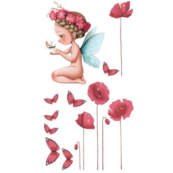 Stickers Petite fée Léonelle Acte Déco Rose rouge - Achat & prix ...