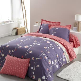 origin parure dorine housse de couette violet 240 x 220 cm achat prix fnac. Black Bedroom Furniture Sets. Home Design Ideas