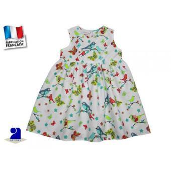 a5d47e40ca051 Vêtement enfant: Robe fille 5 ans, sans manches, décor Oiseaux ...