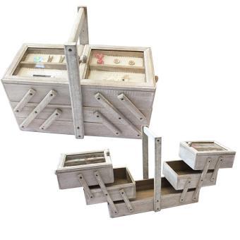 Boite couture en bois avec compartiments achat prix for Boite a couture en bois