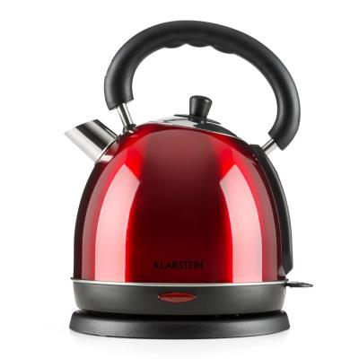 Klarstein Teatime Bouilloire électrique style théière rétro 1850 à 2200W 1,8l acier - rouge