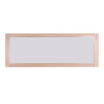 Miroir mural rectangulaire en ch ne massif l139 x l50cm harper achat prix fnac for Miroir horizontal mural