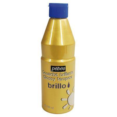 Gouache brillante Brillo or - Flacon 500 ml