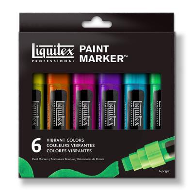 Paint Markers pointe large set de 6 couleurs