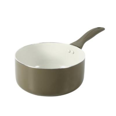 Crealys 511342 casserole taupe aluminium revêtement céramique crème mistral 20 cm