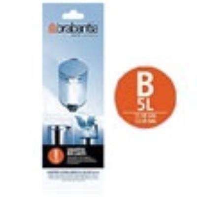 Brabantia - 311741 - Rouleau de Sacs Poubelle - 5 L - 20 Sacs par Rouleau
