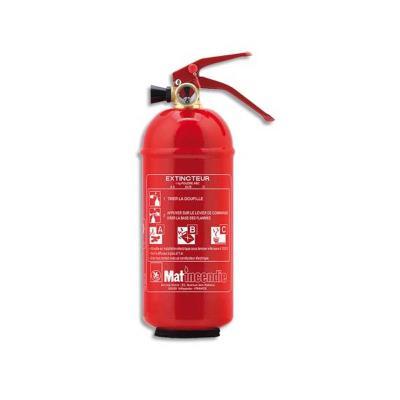 Extincteur à poudre ABC 1kg pression permanente rouge J420