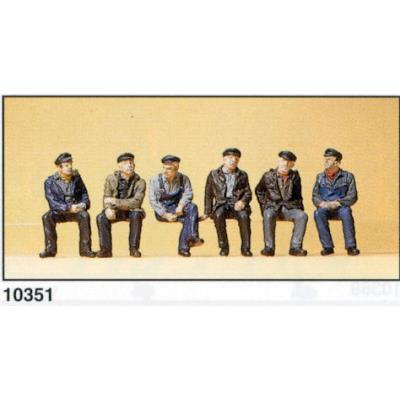 Preiser 187 Ème pr10351 modElisme ferroviaire ouvriers et <strong>dockers</strong> assis