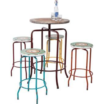 Ensemble Table Bar Et Tabouret ensemble table haute et tabouret vintage coffee kare design - achat