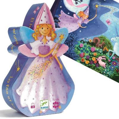 Puzzle Djeco silhouette Fee 36 pieces Enfants filles 4 ans +