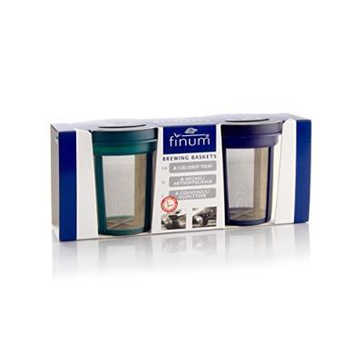 Finum 4210800 goldton set 2 filtres acier inox