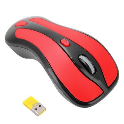 Récepteur USB à souris optique sans fil 6G Gyroscope 2.4G TV pour PC Smart TV Box (Rouge + Noir)