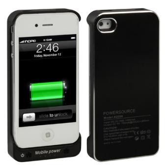 Batterie coque iPhone 4 4S chargeur 2200 mah