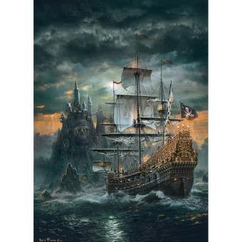 Puzzle 1500 pi ces le bateau pirate clementoni autre - Image bateau pirate ...