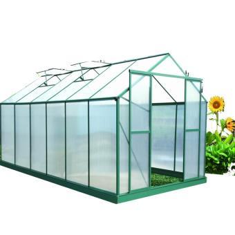 Serre de jardin verte aluminium 12.81 m2, Altona - Matériel pour ...