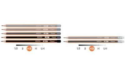 MAPED - Crayon à papier BLACK'PEPS, graduation: HB diamètre de la mine: 2,2 mm, triangulaire, laqué en gris foncé/ orange, mine graphite résistante au bris, extré
