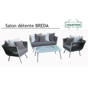 M&mhomeware - salon de jardin détente breda design (2 fauteuils,1 ...