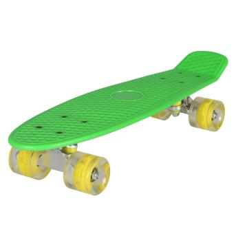 80 sur skateboard cruiser style avec roue lumineuse clignotante achat prix fnac. Black Bedroom Furniture Sets. Home Design Ideas