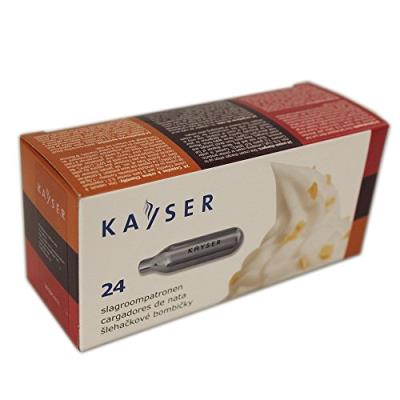 kayser pack de 24 cartouches azote pour siphon à crème 1113