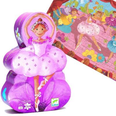 Puzzle Djeco silhouette Ballerine 36 pieces Enfants Filles 4 ans +