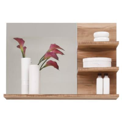 Maisonnerie 1259-401-60 cancun miroir meuble de salle de bain noyer finition satinée lxhxp 72 x 57 x 20 cm