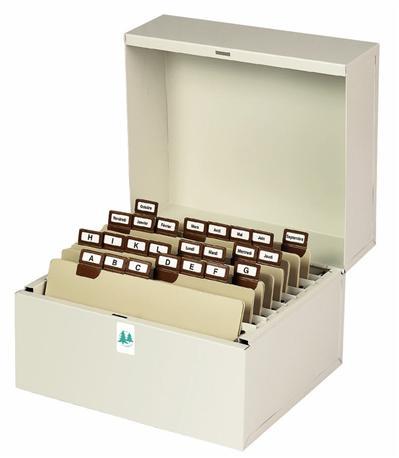 Boîte Exacompta à fiches Metalib pour 105x148mm et 105x150mm