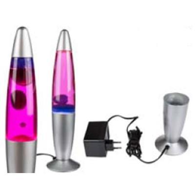 Out of the blue - lampe déco fusée bleu/rose mouvante 34 cm -200 watts