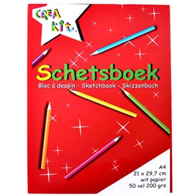 Sketchbook Crea kit A4 50 feuilles 200gr