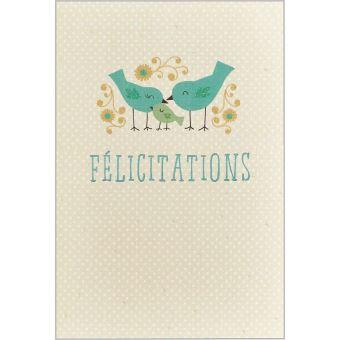 carte de félicitations naissance Draeger la carterie Carte Felicitations naissance Multicolore