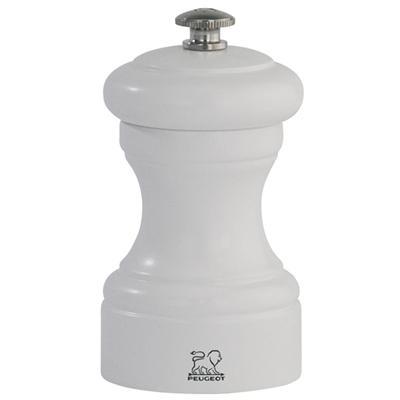 Peugeot - Moulin à sel manuel en bois couleur blanc mat 10 cm