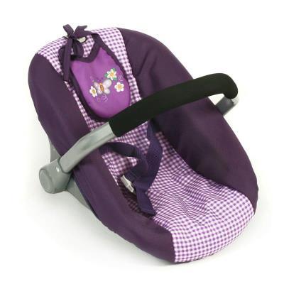 Bayer Chic 2000 708 28 Siège de voiture de poupées - Purple Checker