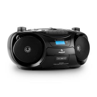 auna groove star bk poste radio enregistreur cd usb mp3 k7 noir radiocassette cd st r o. Black Bedroom Furniture Sets. Home Design Ideas