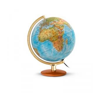 globe terrestre lumineux 30 cm bois et m tal premium. Black Bedroom Furniture Sets. Home Design Ideas