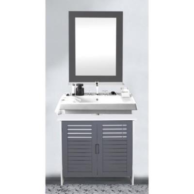 LINDA Meuble sous lavabo 60 cm Gris Achat & prix