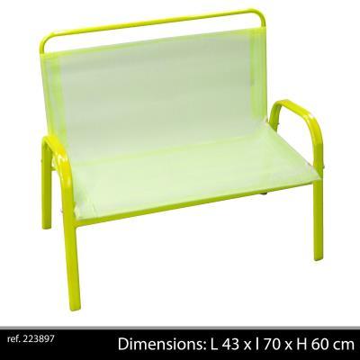 banc de jardin fauteuil mobilier de jardin exterieur pour enfant