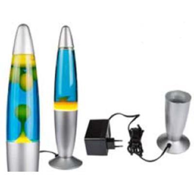 Out of the blue - Lampe déco fusée mouvante jaune-bleu - 200 watts