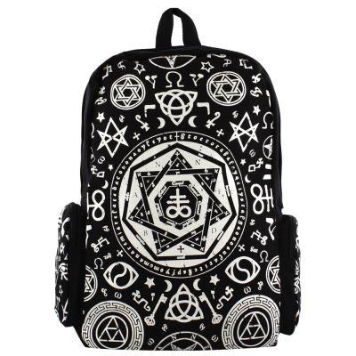 Banned Pentagramme Sac à dos avec capuche