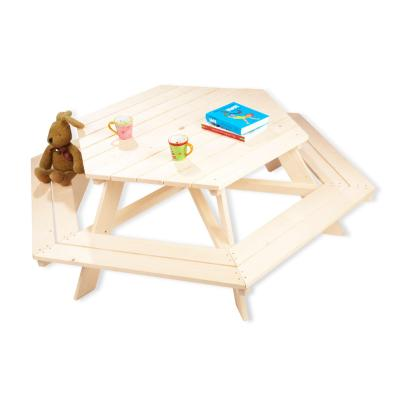 Pinolino - Table picnic Nicki hexagonale pour 6 enfants - brut