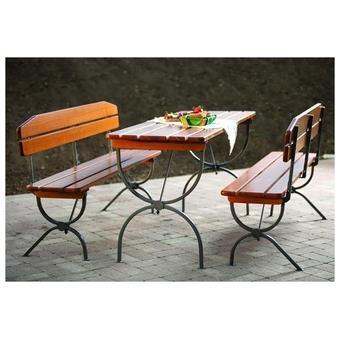 Set De Jardin Pliable 1 Table 2 Bancs En Sapin Foresta Mobilier