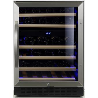 cave vin de service 2 temp 50 bouteilles noir. Black Bedroom Furniture Sets. Home Design Ideas
