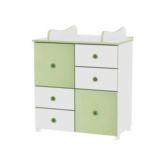 Commode avec plan à langer chambre bébé / enfant Vert