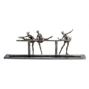 statuette danse 3 ballerines la barre statuette. Black Bedroom Furniture Sets. Home Design Ideas