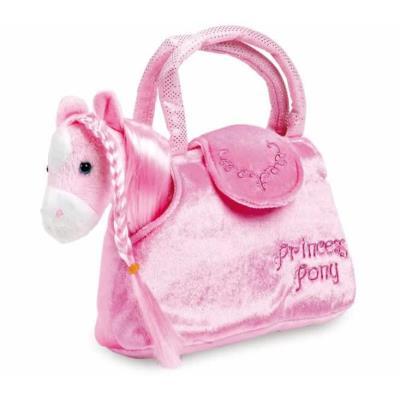 Peluche du cheval avec sac rose Pony