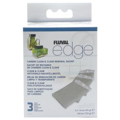 Fluval - Sachets de Rechange de Charbon Clean&Clear Edge - x3