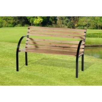banc en bois et metal design pour jardin ou parc exterieur. Black Bedroom Furniture Sets. Home Design Ideas