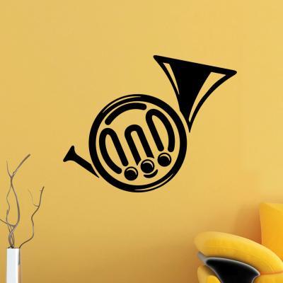 Pick and Stick Sticker Mural Horn - 25 x 40 cm, Noir