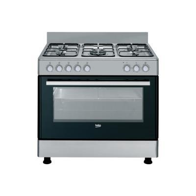 Beko GM 15121 DX - cuisinière - pose libre - inox